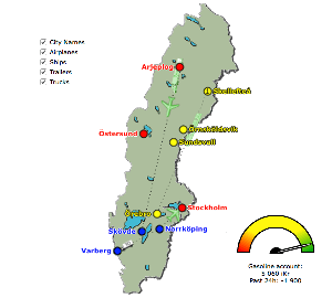 Vehicle map of Sweden